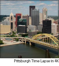 Pittsburgh Skyline Timelapse in 4K
