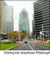 Driving into Downtown Pittsburgh